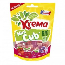 Bonbons mini cub bio fruit rouge KREMA 130gr