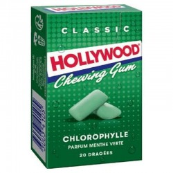 Hollywood Chewing gum menthe verte - 20 dragées