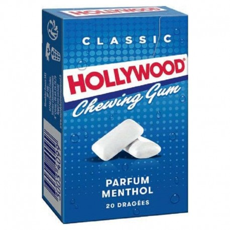 Hollywood Chewing gum menthol - 20 dragées