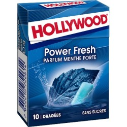 Hollywood chewing gum powerfresh menthe sans sucre